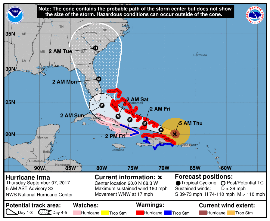 Carolinas Prepare for Hurricane Irma