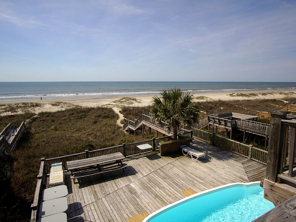 . OIB CHILLIN   8 Bedroom   8 Bath Oceanfront Home with Pool  OIB